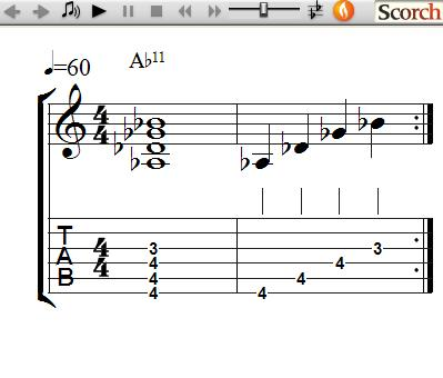 Freemusiclessons4u 11th Chords Left Handed