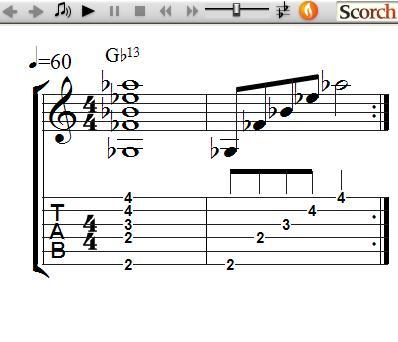 FreeMusicLessons4u.com - 13th Chords - Left Handed