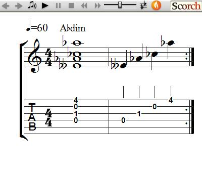 FreeMusicLessons4u.com - Diminished Chords - Left Handed