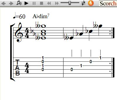 FreeMusicLessons4u.com - Dim7 Chords - Left Handed