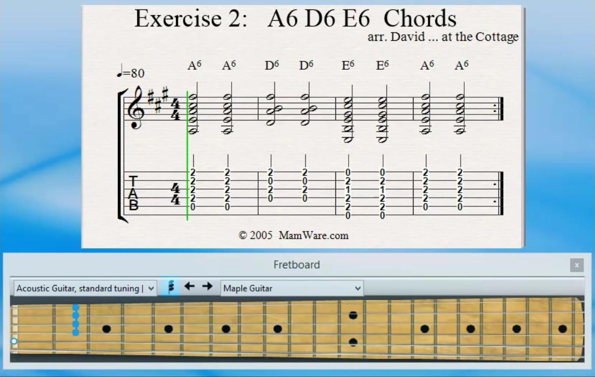 A15 D15 E15 Chord Exercises   FreeMusicLessons15u.com