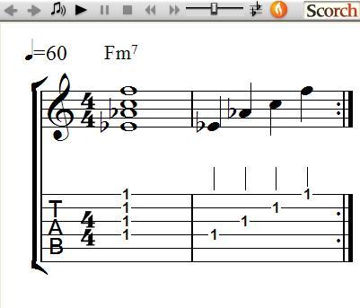 FreeMusicLessons4u.com - Minor 7th Chords - Left Handed